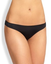 Hanro | Black Satin Deluxe Bikini | Lyst