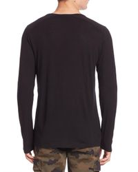 J Brand - Black Zeta Wool & Cashmere Blend Tee for Men - Lyst