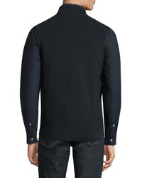 Barbour - Blue Barra Gilet Diamond Stitch Vest for Men - Lyst