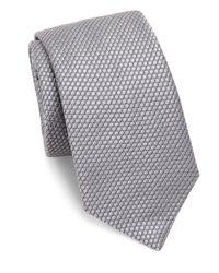Ike Behar | Gray Medallion Silk Tie for Men | Lyst