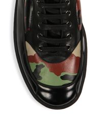 Moschino - Black Camo Leather High Top Sneakers for Men - Lyst