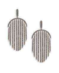 Adriana Orsini - Metallic Pave Fringe Drop Earrings - Lyst