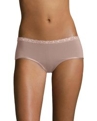 Natori Foundations - Natural Bliss Pure Girl Shorts - Lyst