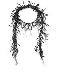 Brunello Cucinelli - Black Beaded Wrap Necklace - Lyst
