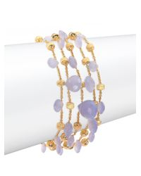 Marco Bicego - Metallic Paradise Chalcedony & 18k Yellow Gold Five-strand Bracelet - Lyst