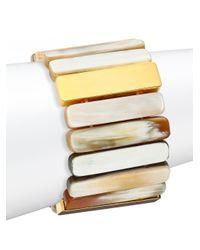 Nest - Multicolor Sleek Horn Stretch Bracelet - Lyst