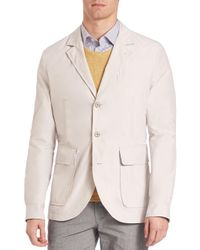 Saks Fifth Avenue - Natural Outerwear Sportcoat for Men - Lyst