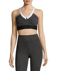 Heroine Sport - Gray Colorblock Sports Bra - Lyst