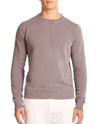 Wahts - Gray Cotton & Cashmere Crewneck Sweater for Men - Lyst