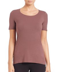 Wolford - Purple Women's Pure Tee - White - Size Xs - Lyst