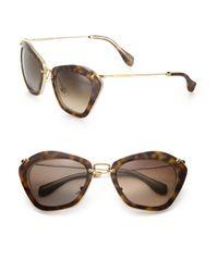 Miu Miu - Brown Noir Catwalk Cat Eye Sunglasses - Lyst