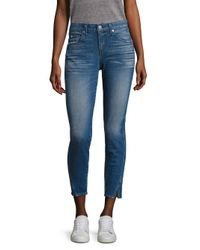 AMO - Blue Twist Vintage Skinny Jeans - Lyst