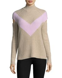 Zoe Jordan - Multicolor Graham Chevron Wool & Cashmere Sweater - Lyst
