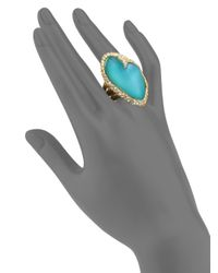 Alexis Bittar - Metallic Desert Jasmine Lucite & Crystal Asymmetric Cocktail Ring - Lyst