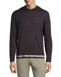 Theory - Multicolor Tevez Cotton Hoodie for Men - Lyst
