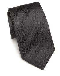 Saks Fifth Avenue - Gray Silk Textured Tie for Men - Lyst