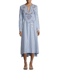 Tory Burch | Blue Adelle Tunic Dress | Lyst