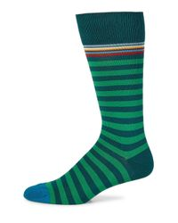 Paul Smith - Green Multi-top Stripe Socks for Men - Lyst