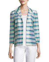 Lafayette 148 New York - Blue Ramira Striped Jacket - Lyst