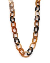 Nest - Brown Natural Horn Long Link Necklace - Lyst