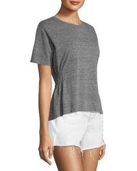 AMO - Gray Women's Stitched Side Girlfriend Tee - Heather Grey - Size Medium - Lyst