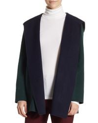 Theory - Blue Clairene Doublefaced Coat - Lyst