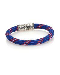 John Hardy | Blue Classic Chain Cord Bracelet for Men | Lyst