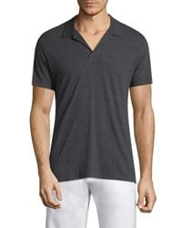 Orlebar Brown - Gray Heathered Cotton Polo for Men - Lyst
