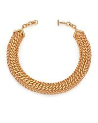 House of Lavande - Metallic Batari Triple-chain Collar Necklace - Lyst