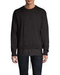 Diesel Black Gold - Black Combo Crewneck Sweater for Men - Lyst