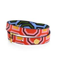 Tory Burch - Multicolor Reversible Double-wrap Bracelet - Lyst