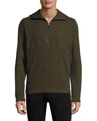 Twenty - Green Knitted Zip Hoodie for Men - Lyst