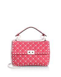 Valentino - Pink Rock Stud Shoulder Bag - Lyst