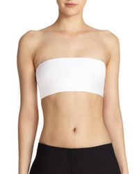 Theory - White Bari Crop Tubular Top - Lyst