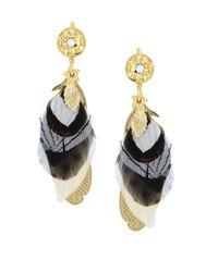 Gas Bijoux - Metallic Sao Swarovski Crystal Drop Earrings - Lyst