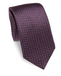 Saks Fifth Avenue - Brown Pin Dot Silk Tie for Men - Lyst