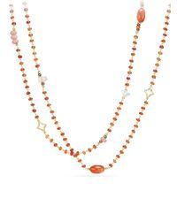 David Yurman - Metallic Bead & Chain Long Necklace - Lyst