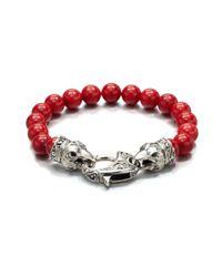 Stephen Webster | Red Coral Beaded Bracelet for Men | Lyst
