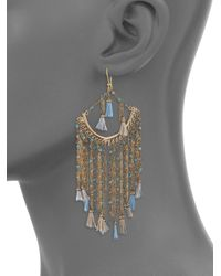 Rosantica - Metallic Risveglio Multicolor Quartz Tassel Earrings - Lyst