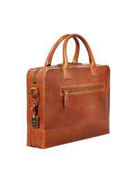 Shinola - Brown Harness Bedrock Leather Briefcase - Metallic for Men - Lyst