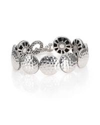 John Hardy | Metallic Palu Sterling Silver Disc Toggle Bracelet | Lyst