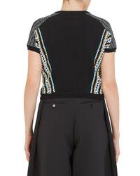 Carven - Black Floating Yarn T-shirt - Lyst