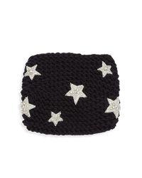 Jennifer Behr - Black Galaxy Kerchief Headband - Lyst