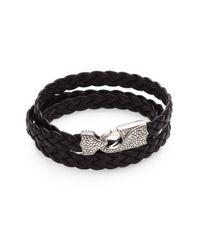 Stephen Webster - Brown Braided Leather Bracelet for Men - Lyst