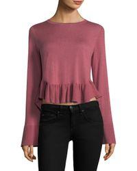 Joie - Pink Iona Bell-sleeve Ruffle Hem Sweater - Lyst