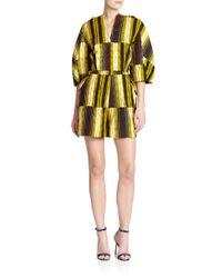 Stella Jean - Yellow Marzaiola Striped Short Jumpsuit - Lyst