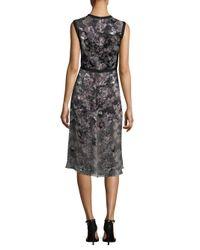 Yigal Azrouël - Black Python-print Sheath Dress - Lyst