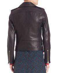 COACH Black 1941 Icon Leather Moto Jacket