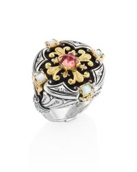 Konstantino - Multicolor Nemesis Mother-of-pearl & Pink Tourmaline Ring - Lyst