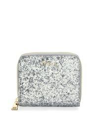 Furla - Metallic Women's Babylon Leather Zip-around Glitter Wallet - Ruby - Lyst